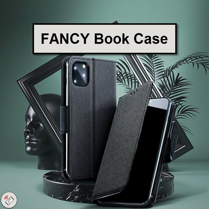 Fancy Book Case Klapptasche in schwarz für iPhone online bestellen