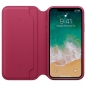 Preview: iPhone X Leder Folio Beerenrot Apple Original MQRX2ZM/A offen online kaufen bestellen