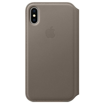 iPhone X Leder Folio Taupe Apple MQRY2ZM/A Blister
