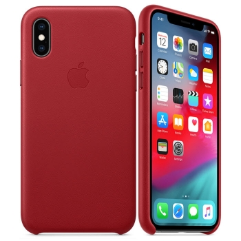 iPhone X Leder Case PRODUCT Red (rot) Apple MRWK2ZM/A Blister