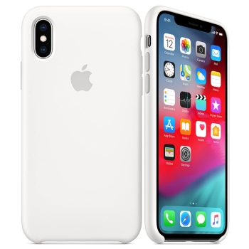 iPhone XS Silikon Case Weiß Apple MRW82ZM/A Blister
