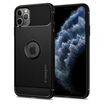 iPhone 11 Pro Handyhülle Spigen Rugged Armor schwarz