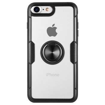 iPhone 7 Hybrid Ring Case Carbon schwarz