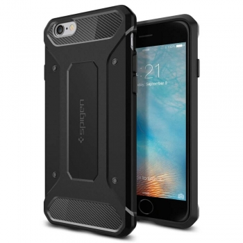 iPhone 6S Plus Handyhülle Spigen Rugged Armor schwarz