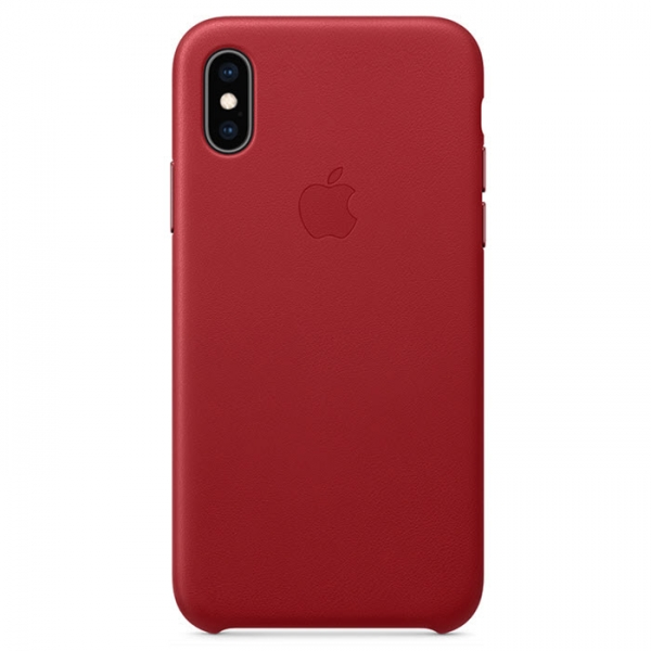 iPhone XS Leder Case PRODUCT Red (rot) Apple Original MRWK2ZM/A hinten online kaufen bestellen